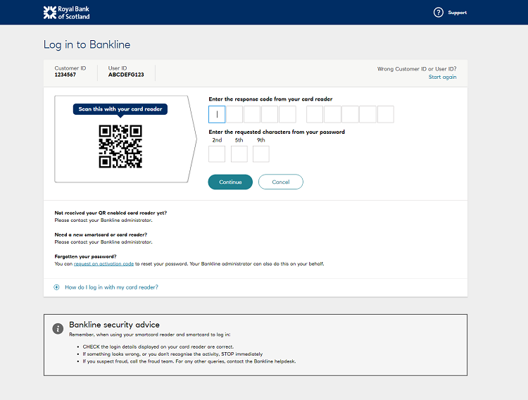 RBS Normal QR LoginScreen
