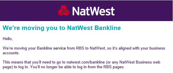 Migration from RBS to NatWest email